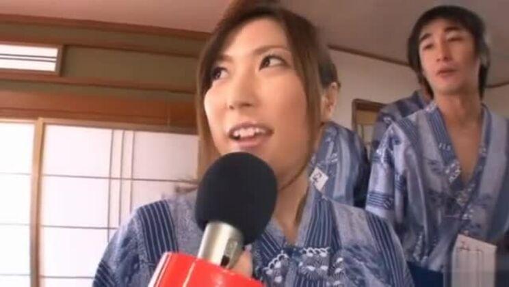 Mirei Yokoyama Chooses Two Guys To Suck And Tit Fuck