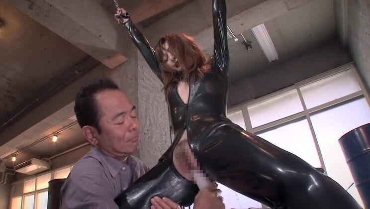Fabulous Japanese whore in Hottest Latex, Toys JAV scene