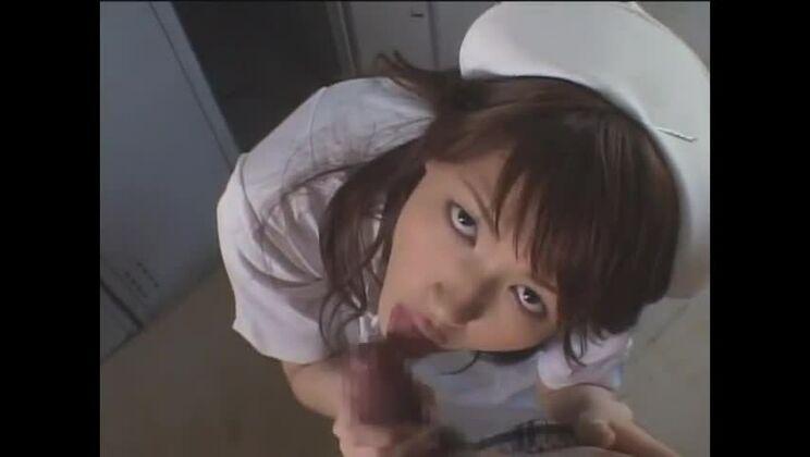 Exotic Japanese chick Erika Sato in Best Nurse, Blowjob JAV scene