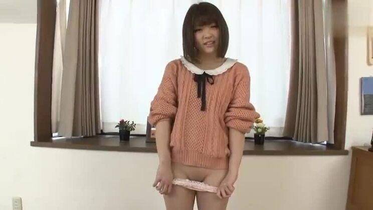 Asian brunette in porno video